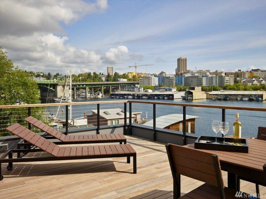 Portage Bay Waterfront Deck View