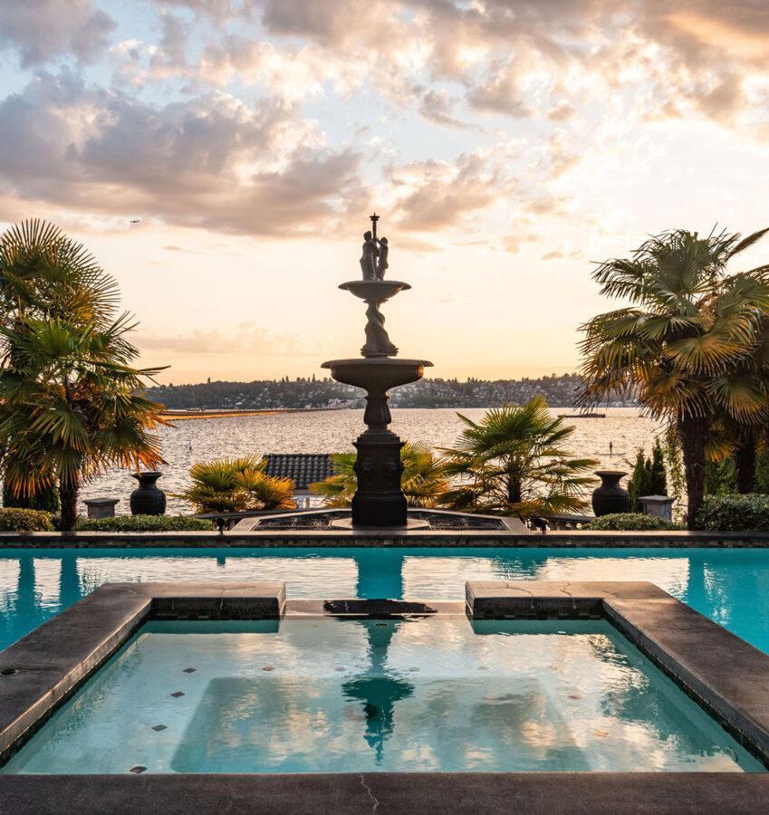 Mercer Island Estate Fountains