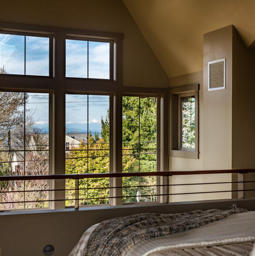 West Seattle Custom master Bedroom View