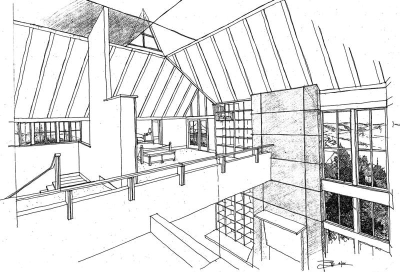 West Seattle Custom Loft Illustration by Bernie Baker