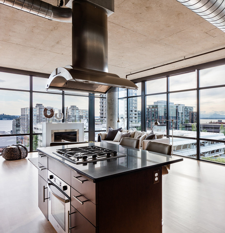 Belltown Loft Kitchen View