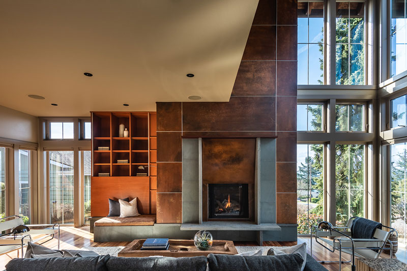 West Seattle Custom Living Room