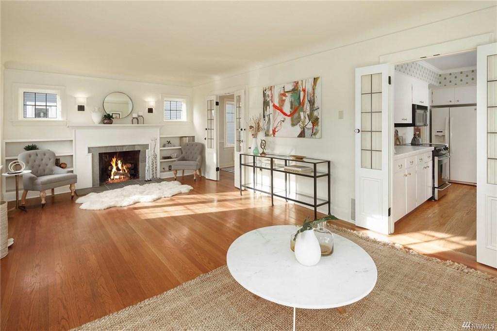 Madison Park Tudor Living & Kitchen